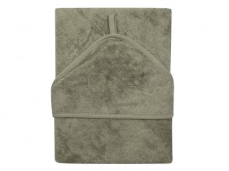 Osuška s kapucí XXL 95 x 95 cm Whisper Green