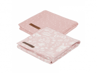 Pleny swaddle 70x70 adventure pink 2ks