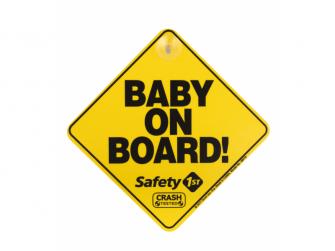 Štítek Baby On Board do auta Yellow
