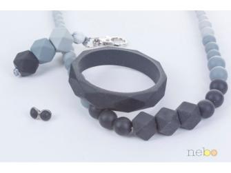 Kojící korále Zara - černé 3