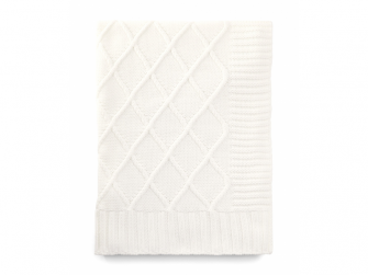 Pletená deka krémová