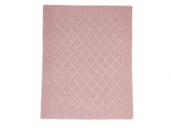 Pletená deka starorůžová 2