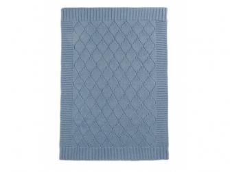 Pletená deka modrý denim 2