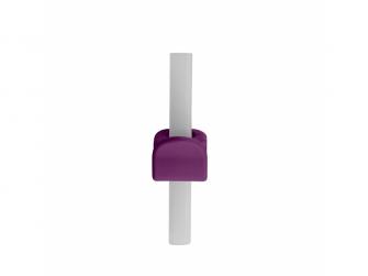 Miska s brčkem -fialová 9