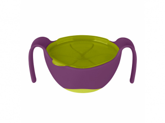 Miska s brčkem -fialová 3