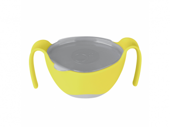 Miska s brčkem - žlutá 2