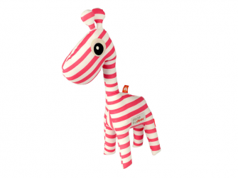 Mazlivá hračka 3D Raffi + knížka - růžová