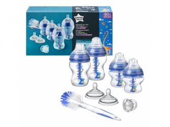 Sada kojeneckých lahviček C2N ANTI-COLIC s kartáčem Blue 2