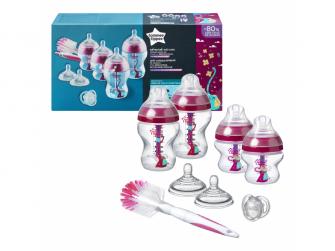 Sada kojeneckých lahviček C2N ANTI-COLIC s kartáčem Pink 2