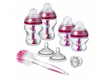 Sada kojeneckých lahviček C2N ANTI-COLIC s kartáčem Pink