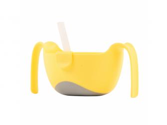 Miska s brčkem XL-žlutá 2