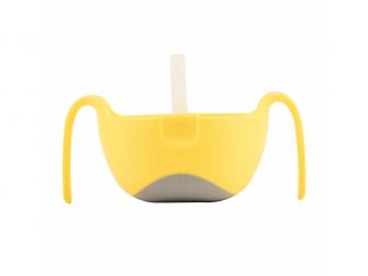 Miska s brčkem XL-žlutá