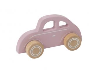 Dřevěné autíčko brouk pink
