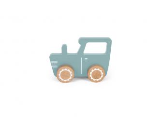 Dřevěný traktor modrý