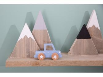 Dřevěné Pick-up autíčko modré 3