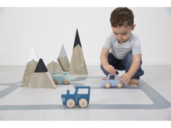 Dřevěné Pick-up autíčko modré 5