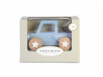 Dřevěné Pick-up autíčko modré 6