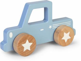 Dřevěné Pick-up autíčko modré 2