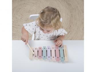 Dřevěný xylofon pink 2