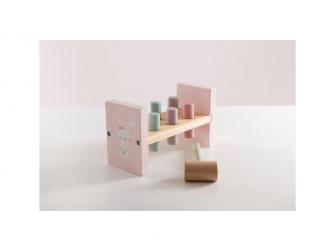 Dřevěná zatloukačka pink