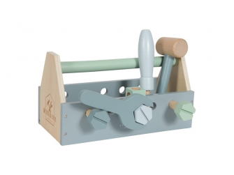 Dřevěné nářadí v boxu (15 dílů + box) 2