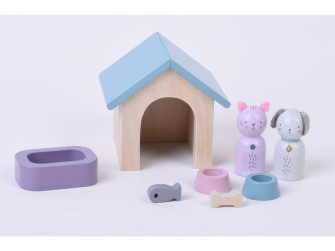 Dřevěný hrací set zvířátka 8ks