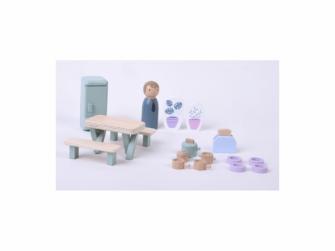Dřevěný hrací set kuchyň 19ks
