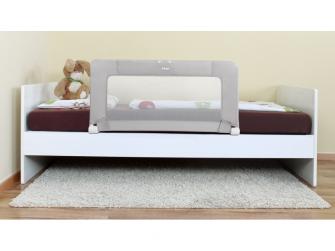 Zábrana na postel 150cm grey/white