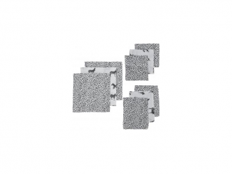 9 ks startovací balení zebra animal/cheetah black( 3ks 70x70, 3ks 30x30, 3 ks 17x20 )