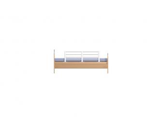 Zábrana na postel nastavitelná - kov