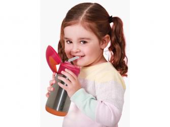Termoska na pití s brčkem - fialová 2