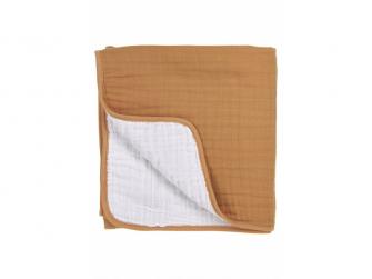 mušelínová osuška velká 120x120cm Uni warm sand/warm white