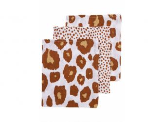 žínky 3-balení Panter-Cheetah camel