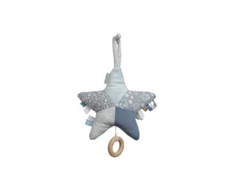 Plyšová hrající hvězda zajíček BLUE 2