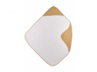 mušelínová osuška Uni warm sand/warm white