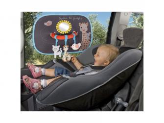 Stínítko žirafa Sophie na okno do auta s hrazdičkou - 2 kusy 3
