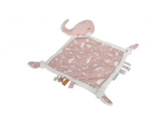 Muchláček s velrybou ocean pink