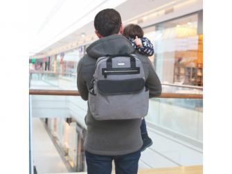 Přebalovací batoh a taška na kočárek 2v1 DUAL, grey melange 11