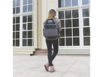 Přebalovací batoh a taška na kočárek 2v1 DUAL, grey melange 12