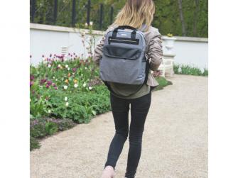 Přebalovací batoh a taška na kočárek 2v1 DUAL, grey melange 14