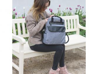 Přebalovací batoh a taška na kočárek 2v1 DUAL, grey melange 16