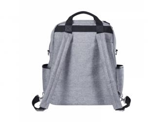Přebalovací batoh a taška na kočárek 2v1 DUAL, grey melange 3