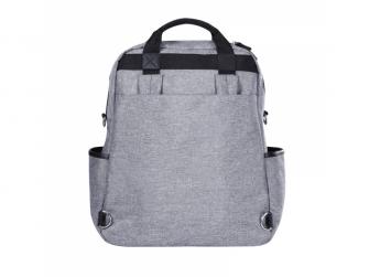 Přebalovací batoh a taška na kočárek 2v1 DUAL, grey melange 4