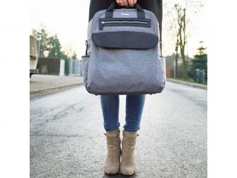 Přebalovací batoh a taška na kočárek 2v1 DUAL, grey melange 5