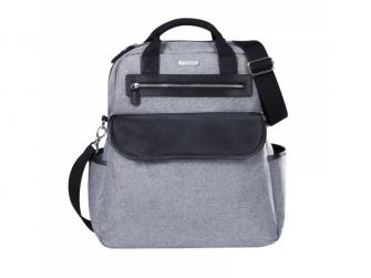 Přebalovací batoh a taška na kočárek 2v1 DUAL, grey melange