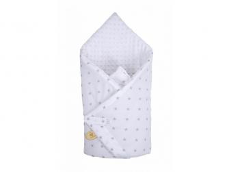 Zavinovačka Minky bílá, šedé hvězdy (500055MA)