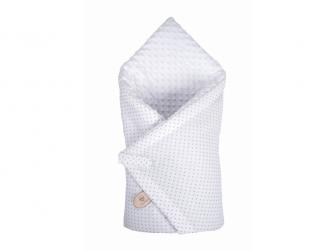 Zavinovačka Minky bílá, šedý puntík v bílé