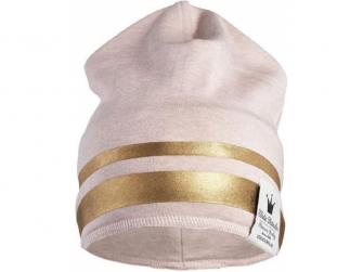 Zimní bavlněná čepice Gilded Pink 12-24 m