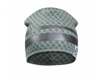 Zimní bavlněná čepice Turquoise Nouveau 6-12m 2