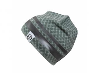 Zimní bavlněná čepice Turquoise Nouveau 1-2y